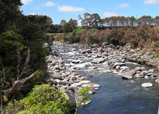 Waiwhakaiho River at SH3