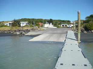Patea River at boat ramp looking inland