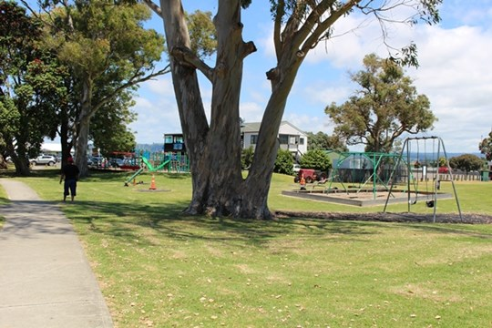 Tauranga Harbour at Omokoroa Domain - Playground