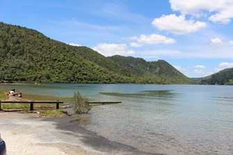Lake Tikitapu at Beach