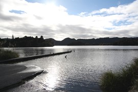 Lake Okareka - towards jetty - June 2011 082